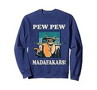 Cat Madafakas Vintage Crazy Cat Funny Graphic Shirts Sweatshirt Navy