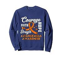 Leukemia Awareness Warrior Wear Orange Hope Gifts Shirts Sweatshirt Navy