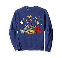 Funny Saurus Halloween Costumes Saurus Lovers Shirts Sweatshirt Navy