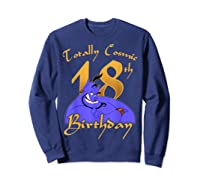 Disney Aladdin Genie Totally Cosmic 18th Birthday T-shirt Sweatshirt Navy