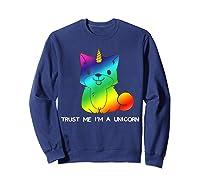 Unicorn Halloween Costume Puppy Girl Girls T-shirt Sweatshirt Navy