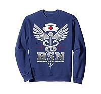 Gift For Bachelor Nurse Nurses Nursing Stay Strong T-shirt Sweatshirt Navy