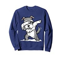 Schnauzer Cute Dabbing Funny Dab Dance Gif Shirts Sweatshirt Navy