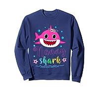 Nanny Shark Doo Doo Doo Shirt Matching Family Shark T-shirt Sweatshirt Navy