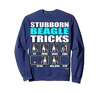 Funbeagle Stubborn Beagle Tricks Beagle Gift Shirts Sweatshirt Navy
