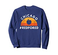 Tea Red For Ed Chicago Public Education T-shirt Sweatshirt Navy