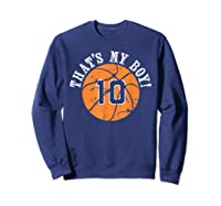 Unique That\\\'s My Boy #10 Basketball Player Mom Or Dad Gifts T-shirt Sweatshirt Navy