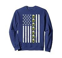 Funny Oktoberfes American Flag Beer Pretzel Shirts Sweatshirt Navy