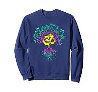 Tree Of Life Shanti Patha Om Yoga Prayer Shirts Sweatshirt Navy