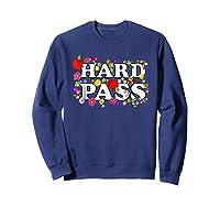 Hard Pass Floral Baseball Feminist Shirts Sweatshirt Navy