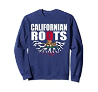 Storecastle Californian Roots California Pride Gift Shirts Sweatshirt Navy