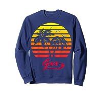 Goa 80s Summer Beach Palm Tree Sunset Shirts Sweatshirt Navy