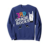 3rd Grade Rocks, 1st Day Of School Shirt Students Teas Sweatshirt Navy