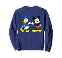 Disney Mickey Mouse And Donald Duck Best Friends T-shirt Sweatshirt Navy
