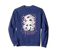 12th Birthday Princess Girl 12 Years Old Cow Lover B Day Shirts Sweatshirt Navy