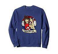 Croatian Girl Croatian Woman Croatia Croatian T-shirt Sweatshirt Navy