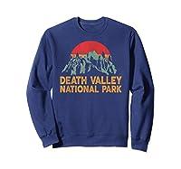 Vintage Death Valley National Park Sunset T Shirt Sweatshirt Navy