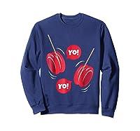 Yo-yo Shirt Yoyo Ball T-shirt Gift Sweatshirt Navy