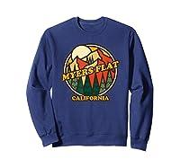 Vintage Myers Flat California Mountain Hiking Souvenir Print T-shirt Sweatshirt Navy
