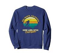 Retro Del Norte, Colorado Big Foot Souvenir Shirts Sweatshirt Navy
