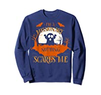 Missionary Nothing Scares Me Funny Halloween T-shirt Sweatshirt Navy