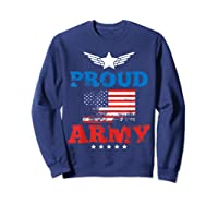 Proud Army American Soldier Air Flag Honor Gift T-shirt Sweatshirt Navy