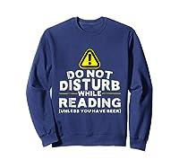 Drinking Beer Lovers Funny Book Reading T-shirt Sweatshirt Navy