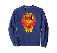 Lion Head Golden Head Phones Shirts Sweatshirt Navy