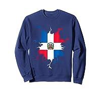 Dominican Republic Flag Inside Dominicana Republica Pride Shirts Sweatshirt Navy
