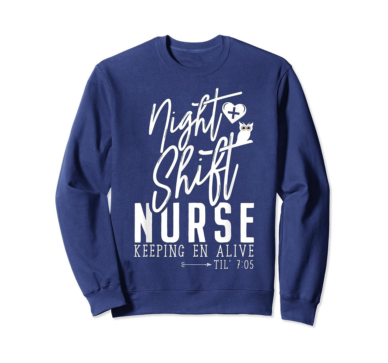 Night Shift Nurse T Shirt For Thanksgiving Halloween Shirt Crewneck Sweater