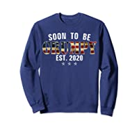 Soon To Be Grumpy Est 2020 American Flag For New Dad Gift Shirts Sweatshirt Navy