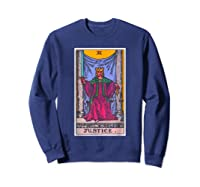 Justice Tarot Card Psychic Occult Metaphysical Shirts Sweatshirt Navy
