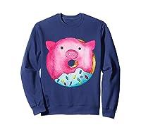 Donut Pig Shirts Sweatshirt Navy