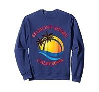 Belmont Shore Beach Surf California Gift Shirts Sweatshirt Navy