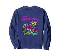 Sunshine, Flowers And Honey Bees Shirts Sweatshirt Navy