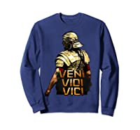 Veni Vidi Vici Spqr Roman Empire Quote Shirts Sweatshirt Navy