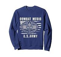 Combat Medic Us Army Flag America 4th July Shirts Sweatshirt Navy
