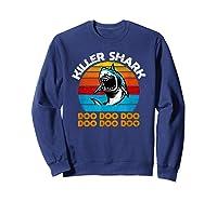 Killer Shark Funny Meme Shirts Sweatshirt Navy