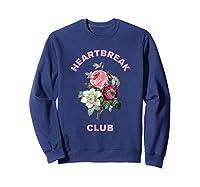 Aesthetic Flower Shirt Sweatshirt Navy