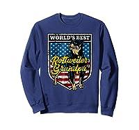 Worlds Best Rottweiler Grandpa Shirts Sweatshirt Navy