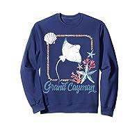 Grand Cayman Islands Turtle Tuna Stingray Blue Souvenir Gift T-shirt Sweatshirt Navy