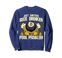 Beer Billiards For Pool Hall Pub With Mugs Suds Shirts Sweatshirt Navy