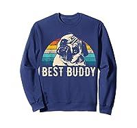 Retro Pug Gift Shirts Sweatshirt Navy