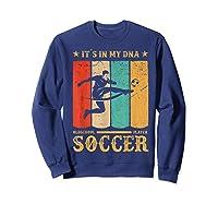 Retro Vintage Soccer Design 1970s T-shirt Sweatshirt Navy