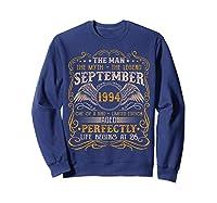 September 1994 Man Myth Legend 26th Birthday 26 Years Old Shirts Sweatshirt Navy