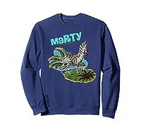 Madagascar Marty Painted Grass Poster Premium T-shirt Sweatshirt Navy