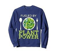 Fueled By Plant Power Vegetarian Shirts Sweatshirt Navy