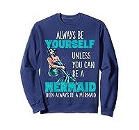 Cute Mermaid Gifts N Girls Mermaids Lover Gift Daughter Shirts Sweatshirt Navy