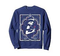 Disney Aladdin Jasmine Ornate Frame Rose Graphic T-shirt Sweatshirt Navy