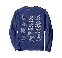Avengers Team Logos Shirts Sweatshirt Navy
